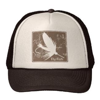 Señuelo de la pesca con mosca gorras