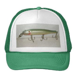 Señuelo del vintage del nadador del cacho de la ca gorra