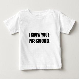 Sepa su contraseña camiseta de bebé