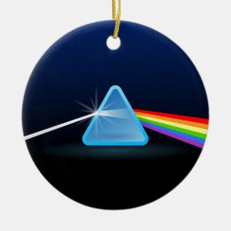 Separación ligera del arco iris con el triángulo adorno para reyes