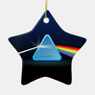 Separación ligera del arco iris con el triángulo ornaments para arbol de navidad
