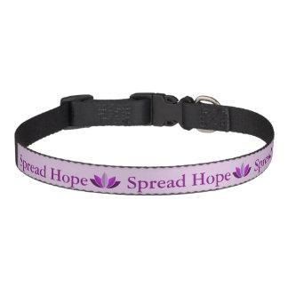 Separe el cuello de perro de la esperanza collar para mascotas