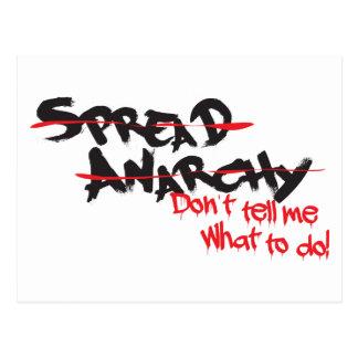 ¡Separe la anarquía! Postal