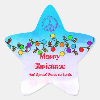Separe la paz en el pegatina del navidad de la