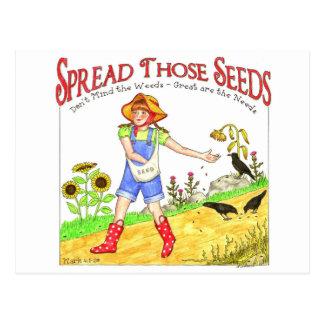 Separe la postal inspirada de esas semillas