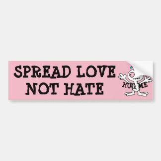 Separe los abrazos del odio del amor no, pegatina