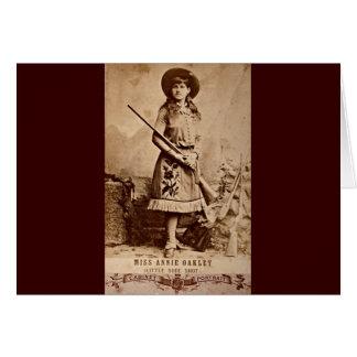 Sepia de Annie Oakley Tarjeta De Felicitación