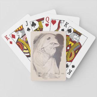 Sepia de la hoja del traje del fantasma de la cartas de póquer