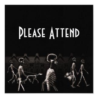 Sepia de medianoche del negro del paseo de los invitación 13,3 cm x 13,3cm