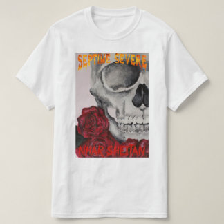 septime severe-skeleton and roses camiseta