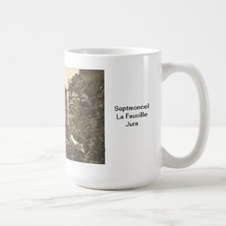 Septmoncel, La Faucille, el Jura Taza Básica Blanca