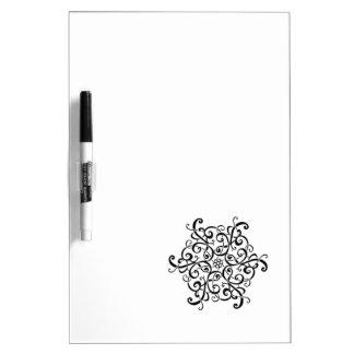 Seque el diseño Tablero-Negro y blanco del borrado Pizarra Blanca