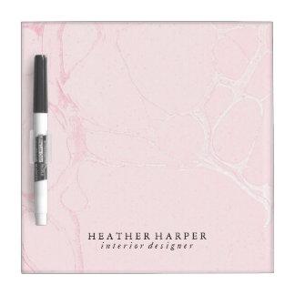 Seque el tablero del borrado - mármol rosado