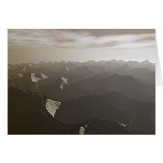Sequía seca de las montañas tarjeta