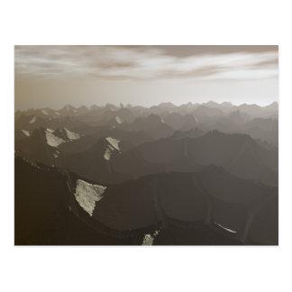 Sequía seca de las montañas tarjetas postales