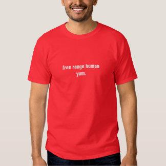 Ser humano libre de la gama. Yum Camisetas