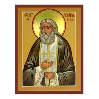 Seraphim del santo de la tarjeta del rezo de Sarov