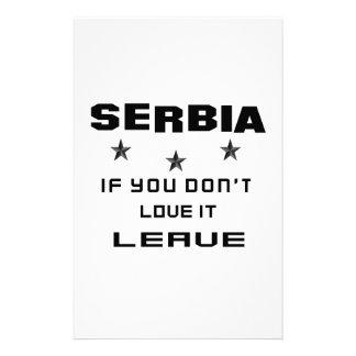 Serbia si usted no la ama, se va papelería personalizada