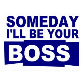 Seré algún día su jefe tarjeta postal