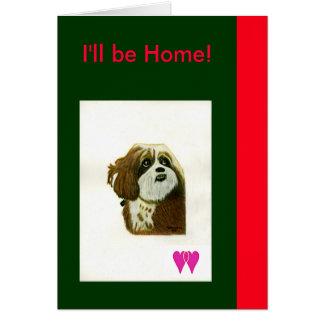 Seré jGibney casero de los corazones del perro dos Tarjeta De Felicitación