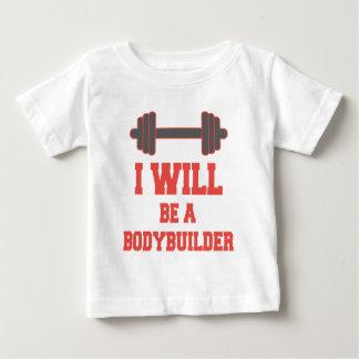 Seré un Bodybuilder Camiseta De Bebé