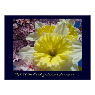 Seremos flores de la impresión del arte de los mej poster