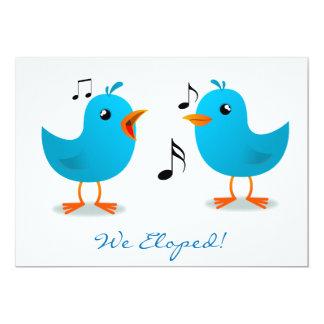 Serenata del Bluebird Eloped Invitación 12,7 X 17,8 Cm