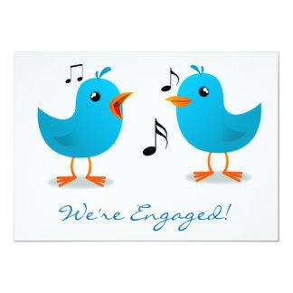 Serenata del Bluebird nos contratan Invitación 12,7 X 17,8 Cm