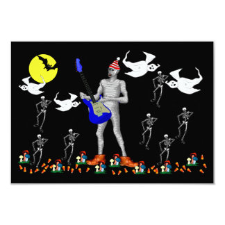 Serenata del zombi invitación 8,9 x 12,7 cm