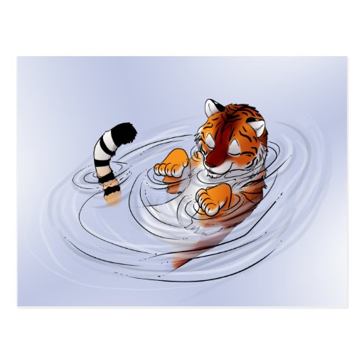 Serenidad anaranjada del tigre tarjetas postales