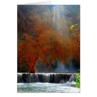 Serenidad de la cascada tarjeta pequeña