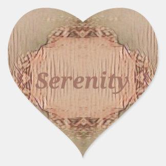 Serenidad moderna del melocotón elegante del pegatina en forma de corazón