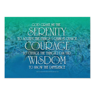 Serenidad, valor, sabiduría invitación 12,7 x 17,8 cm
