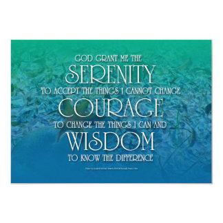 Serenidad, valor, sabiduría comunicados