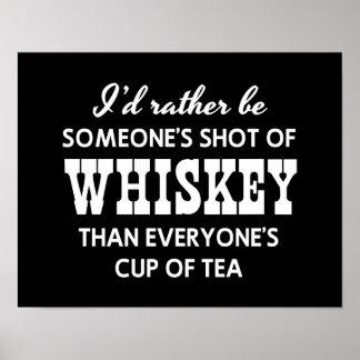 Sería bastante alguien tiré del whisky póster
