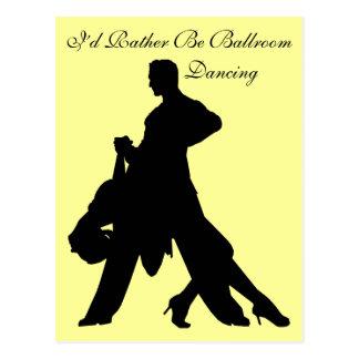 Sería bastante baile de salón de baile postal