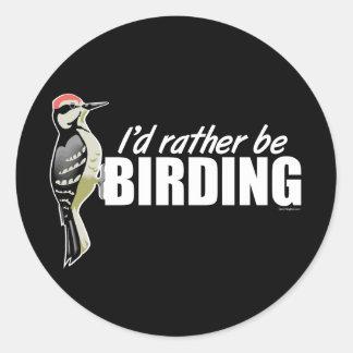 Sería bastante Birding Etiquetas Redondas