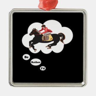 Sería bastante caballos de montar a caballo ornamentos de navidad