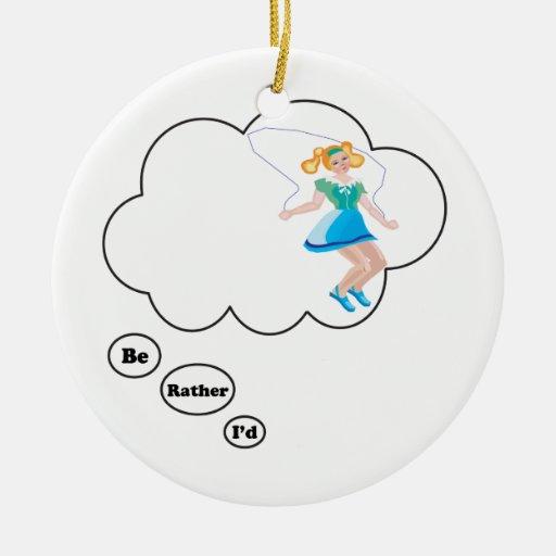 Sería bastante cuerda de salto ornamento para arbol de navidad
