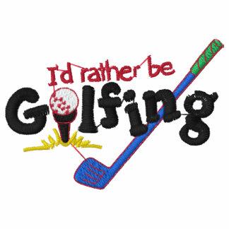 Sería bastante el Golfing bordado Camiseta Polo