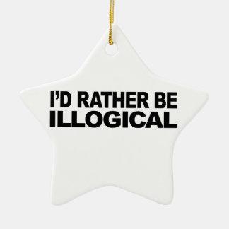 Sería bastante ilógico adorno de navidad