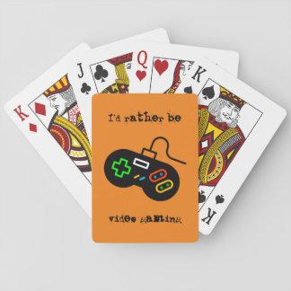 Sería bastante juego video baraja de cartas
