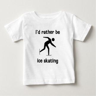 Sería bastante patinaje de hielo camiseta de bebé