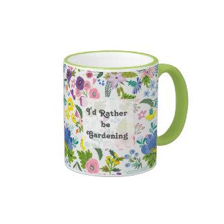 Sería bastante primavera del | que cultiva un taza de dos colores