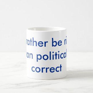 Sería bastante rightthan corrijo político tazas de café