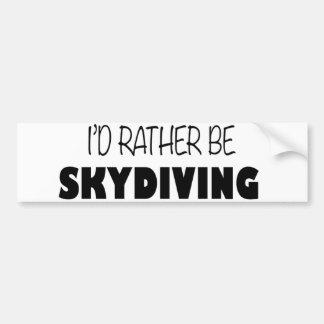 Sería bastante Skydiving Pegatina Para Coche
