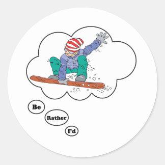 Sería bastante snowboard pegatina
