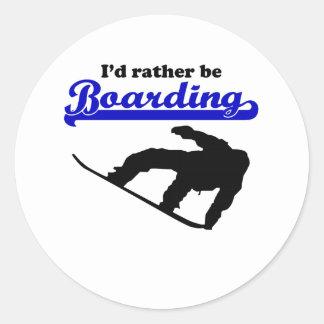 Sería bastante snowboard pegatinas redondas