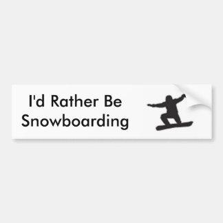 Sería bastante snowboard etiqueta de parachoque