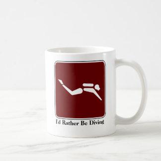 Sería bastante taza de café que se zambulle